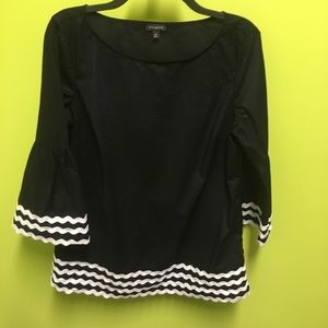 Talbots shirt with bell sleeves